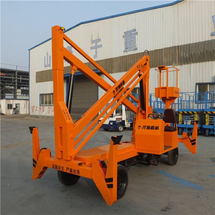 现货供应车载式升降平台 柴油机动力曲臂式液压升降机