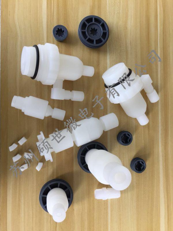 化学品桶分装连接器带止回阀防呆环HDPE桶装