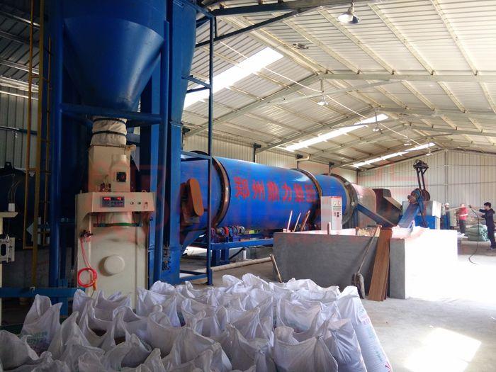 啤酒糟烘干机 新疆啤酒糟饲料烘干生产线试机