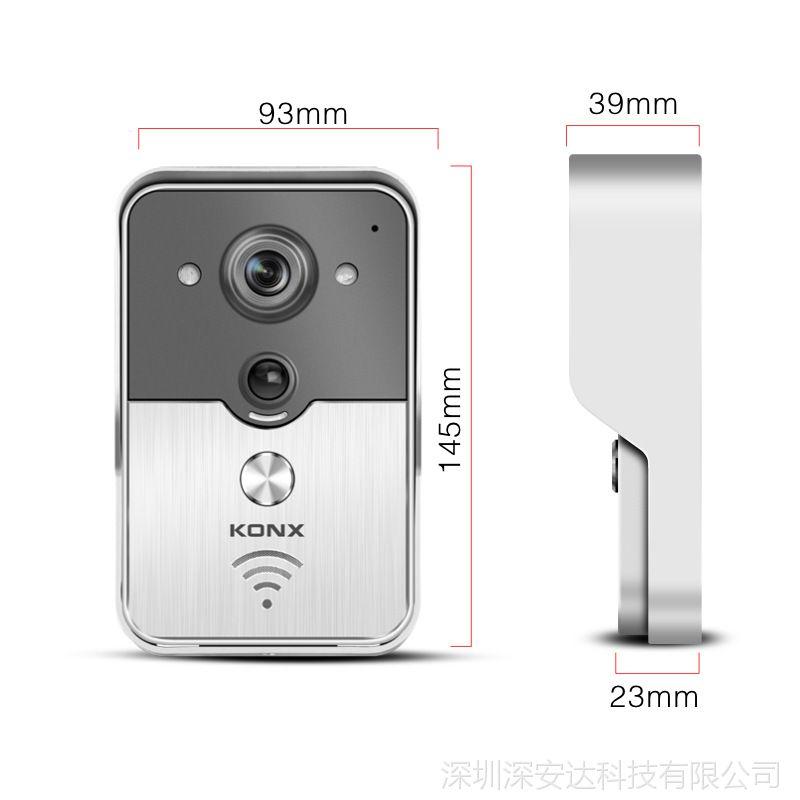 康鑫泰wifi可视对讲门铃无线电子防盗夜视手机视频远程监控拍照