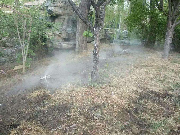 喷雾造景水雾景观系统设备应用效果