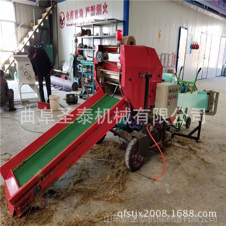 畜牧草打捆包膜机 青饲料打捆包膜机 养殖机械