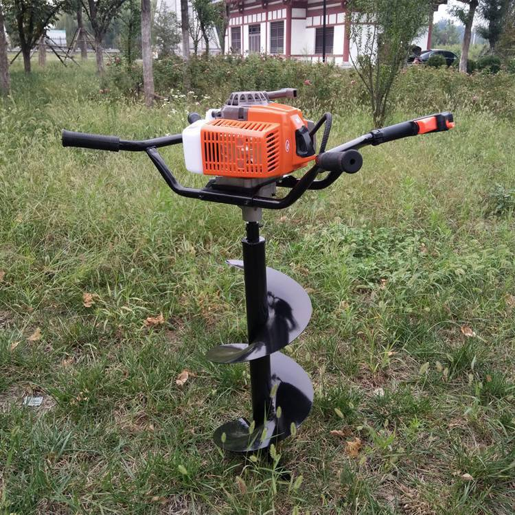 厂家直销栽种果林打眼机二冲程螺旋式挖坑机小型便携家用地钻