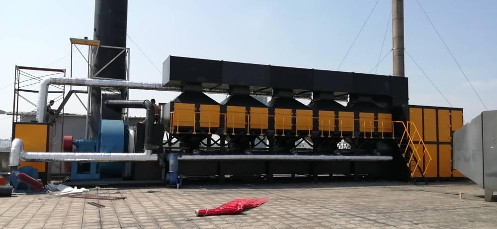 富宏元北京废气处理1万风量催化燃烧设备
