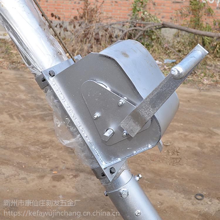 【刻发】人工立杆工具 立杆机三角架价格 铝合金独角拔杆 保质 包邮