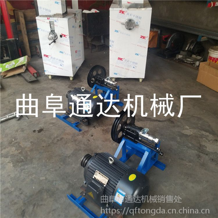 新款膨化机视频 面包车膨化机加柴油机预定中 通达 一斤玉米碴能出多少空心棒