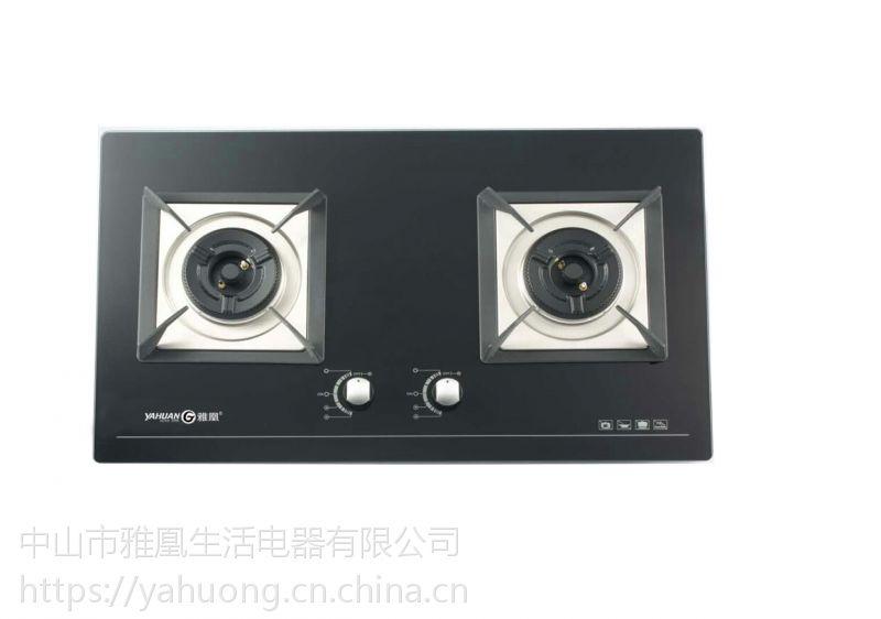 雅凰QS30嵌入式双炉,加厚1.0高档陶瓷面板