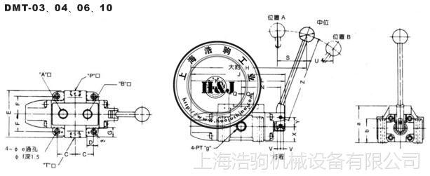 DMT、DMG系列手动换向阀DMG-02台湾康百世KOMPASS
