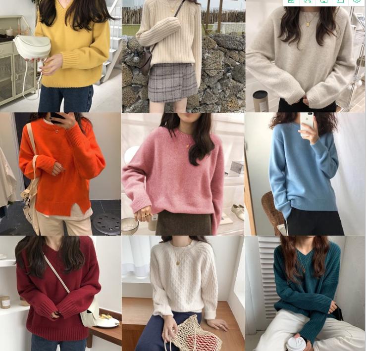 冬季毛衣韩版时尚女士针织衫库存毛衣批发杂款羊毛衫低价清仓处理