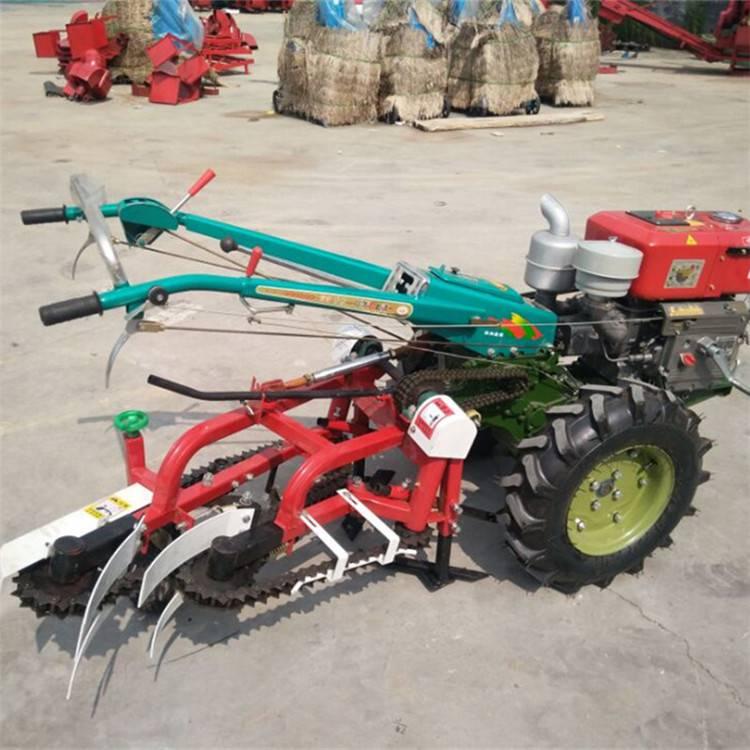 手扶拖拉机带动大蒜收获机 农用起蒜机 小型出蒜机