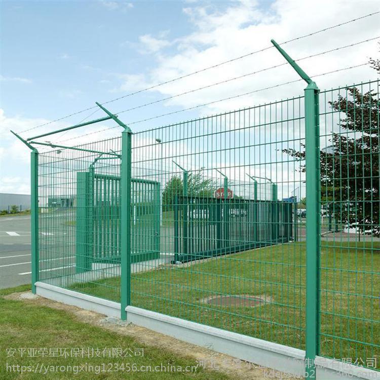厂家供应1.2*3米桃型柱护栏 公路专用铁丝防护网 车间隔离