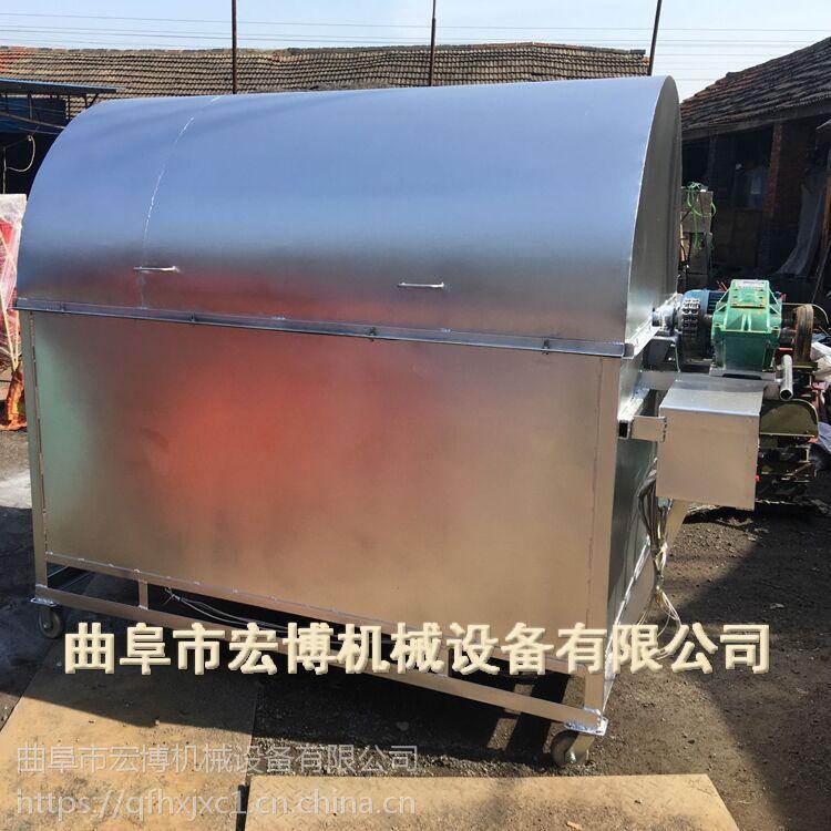 不锈钢滚筒炒锅 多功能大型炒货机 炒黄豆机械