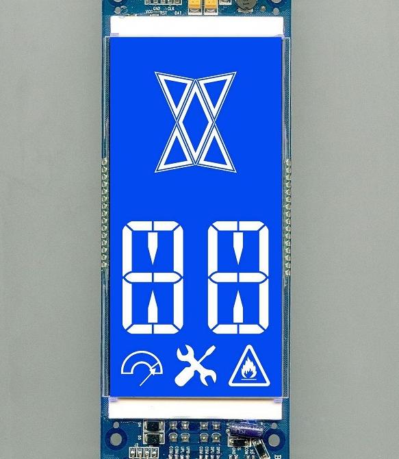 华彩胜定制电梯LCD液晶屏VA黑膜工艺