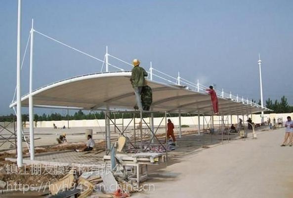 杭州膜结构加油站湖州膜结构充电桩,服务区充电桩雨棚制作