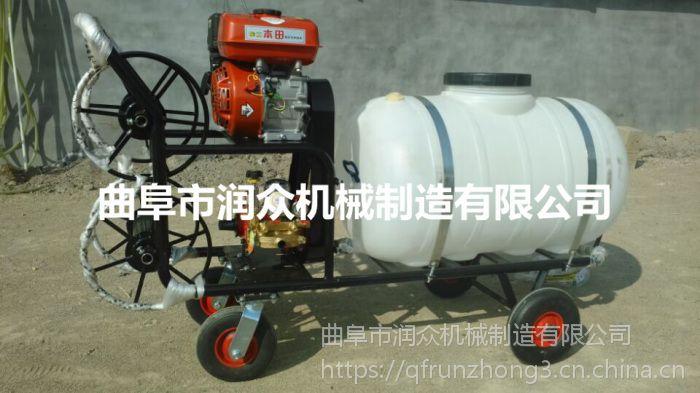 蔬菜防虫打药机 远射程手推式喷药机 推车式省力喷雾器