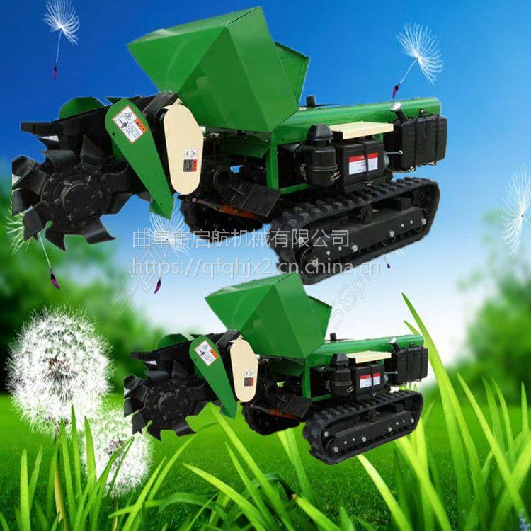 果树施肥机 多功能履带式旋耕机 启航开沟撒肥回填机
