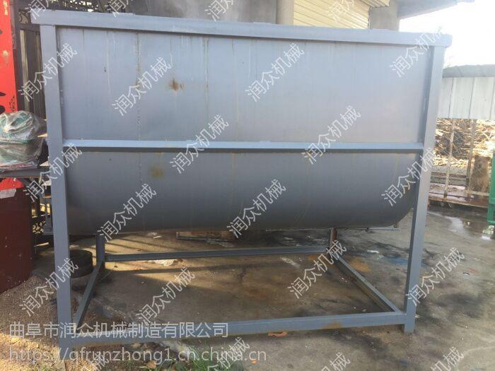 牛羊饲料混料搅拌机 节能环保饲料搅拌机 家用小型卧式混料机