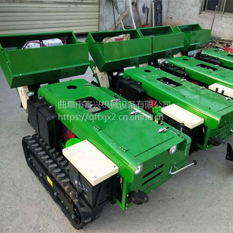 时风柴油动力果园施肥机价格 回填旋耕除草机设备富兴厂家