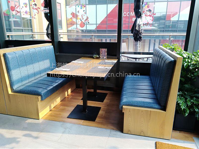 供应静安区LOFT实木长桌 简约现代铁艺包边长桌订做 上海忱净家具厂