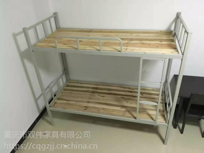 学校双层铁床 现代中式 宿舍双层 重庆铁床 批发