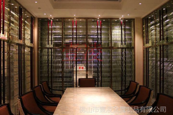 按要求定制 不锈钢酒柜 红酒庄恒湿恒温酒柜
