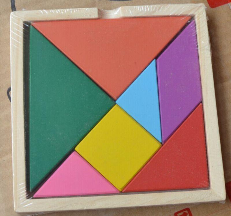 玩具/厂家直销/少量混批/木制益智玩具/拼版玩具 彩色七巧板热卖图片