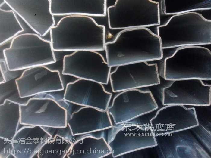 天津市镀锌面包管加工厂+镀锌面包管形钢管厂家