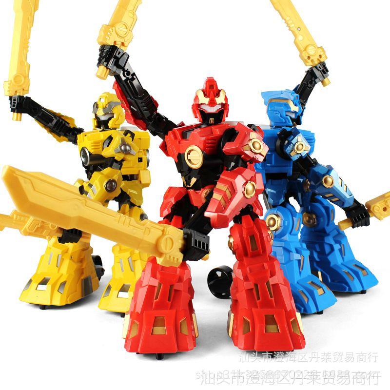 儿童对战体感双刀机器人玩具电动音乐灯光耐摔模型高达变形金刚