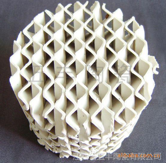 五丰陶瓷专业生产规整700y型强化瓷质波纹填料