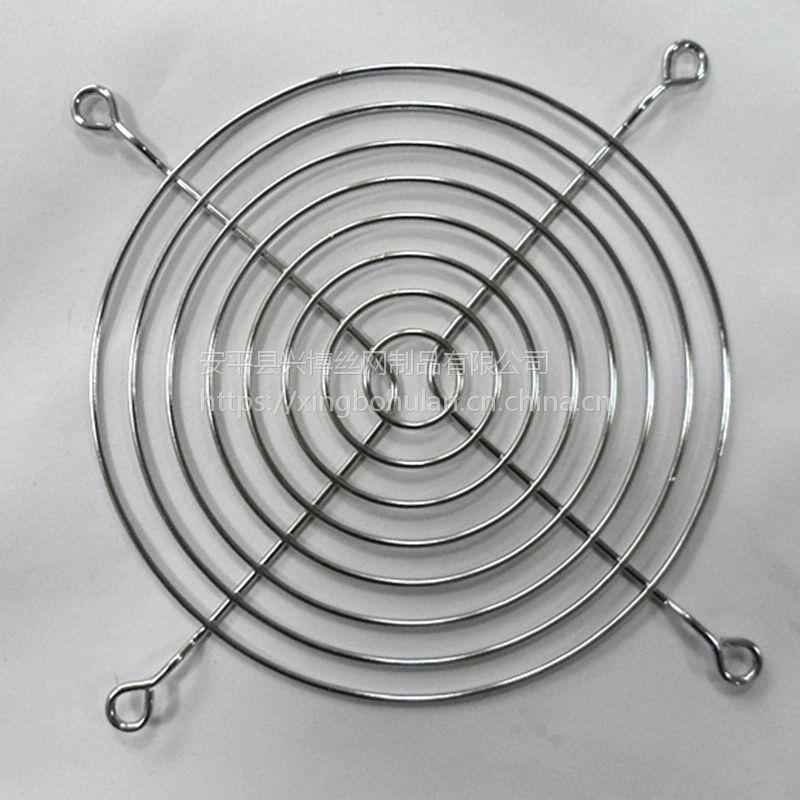 风机网罩厂家直销安平兴博喷塑镀锌防护网罩