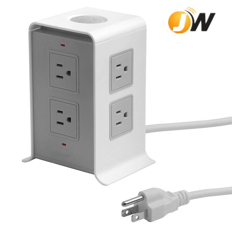 定制款美规智能多功能USB排插美式USB接口插座 2米线美规带4USB插座PC防火阻燃专供跨境电商