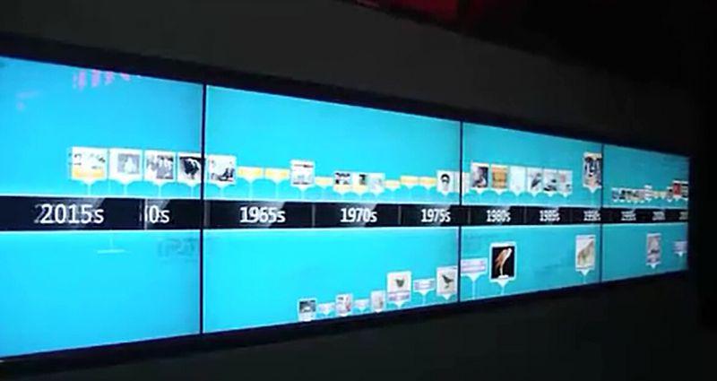 上海精研电子IRMTOUCH红外多点触摸屏拼接墙演示