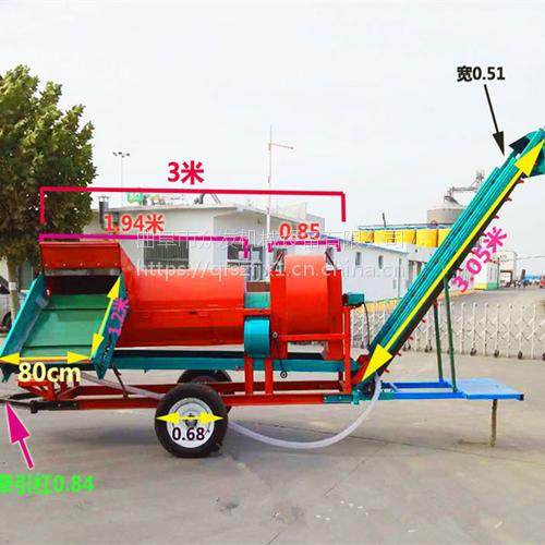 姜堰市自动装袋花生摘果机 干湿两用花生采摘机