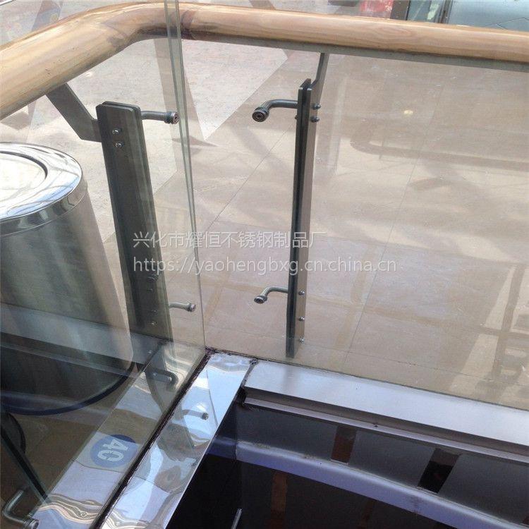 耀恒 生产供应不锈钢玻璃楼梯立柱 不锈钢楼梯栏杆 高端时尚