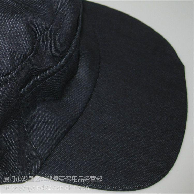 厦门劳保直销新款优质蓝色鸭舌牛仔帽电子餐饮行业专用工作帽,透气吸汗