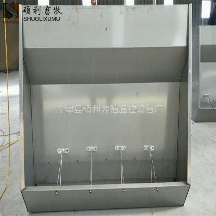 喂猪不锈钢食槽自动采食设备不锈钢材质的喂猪食槽减少浪费易于采食