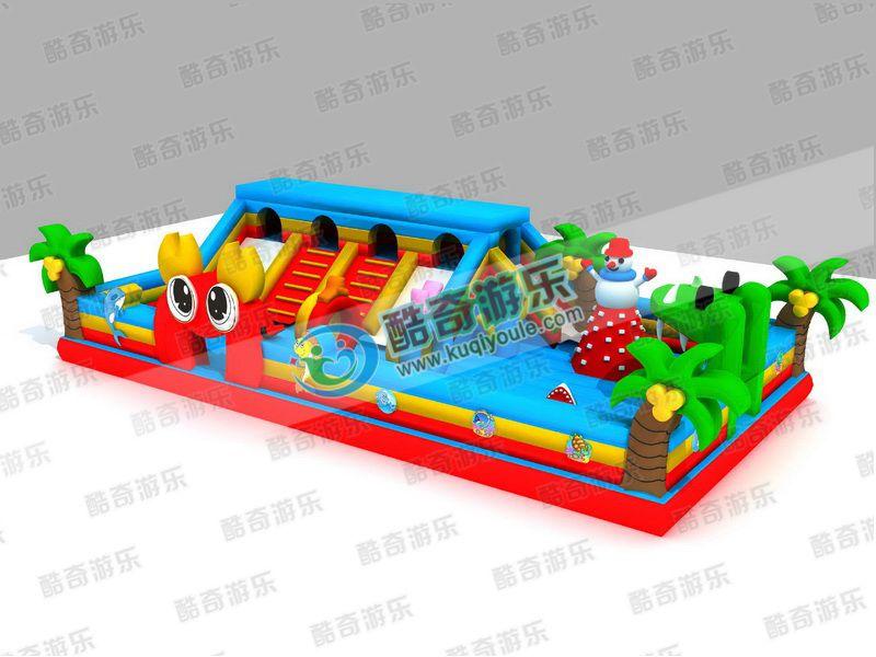 丽水定制充气玩具滑梯气垫床需要怎么做