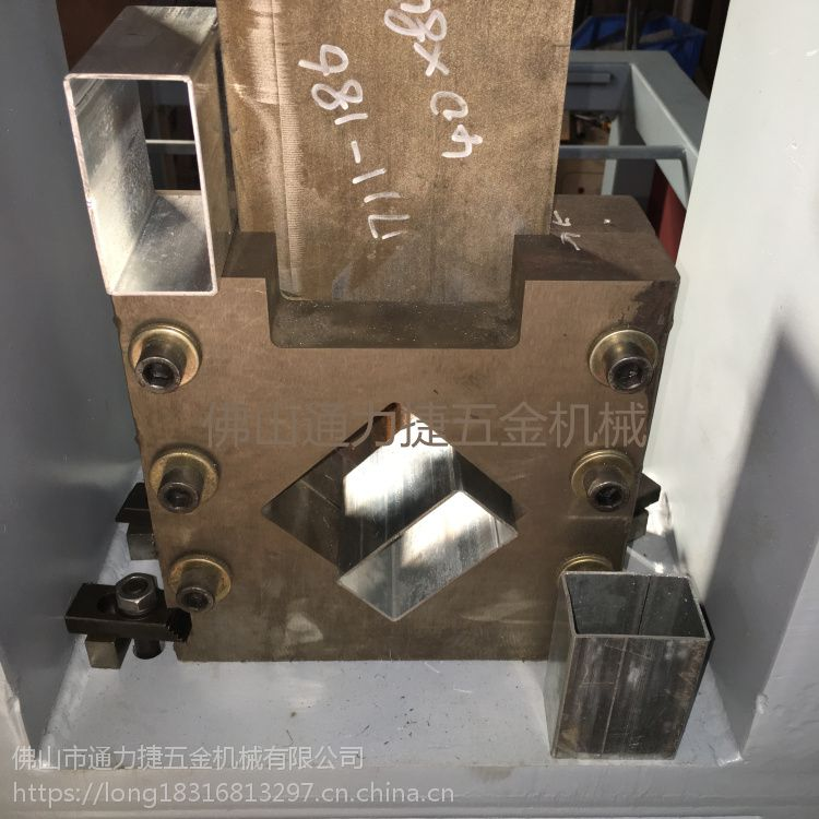 角铁铁管切断 精诚楼梯扶手坡口机 防盗网方管圆管冲孔机