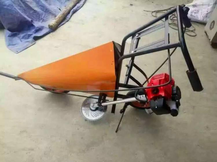 畅销汽油小型割晒机棉花秸秆收获机农场专用割草机