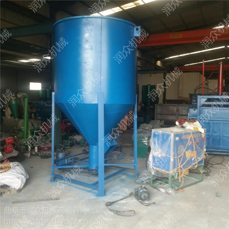 养猪用玉米粉碎饲料搅拌机 高效率均匀的搅拌机润众