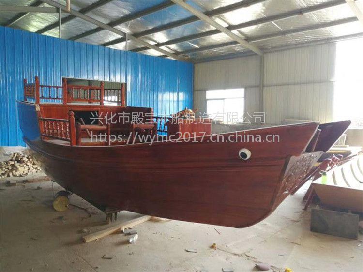 贵州仿古工艺木船制造厂家供应海盗帆船 大型景观装饰船 实木海盗船 亮化主题船