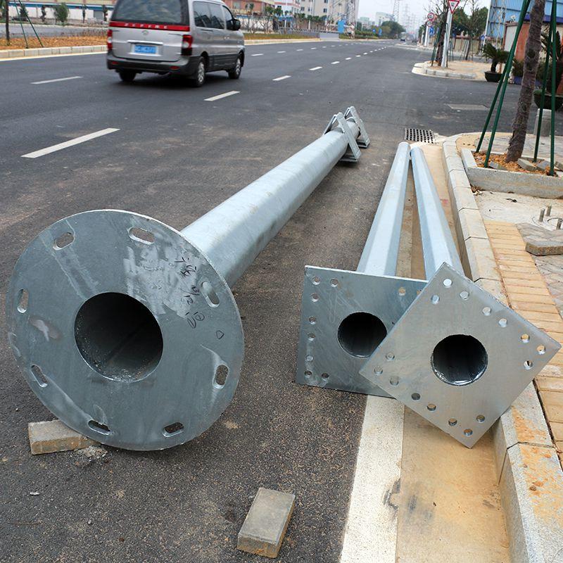寮步Q235钢材路柱价格 单臂路灯多少钱 订购篮球场LED灯杆