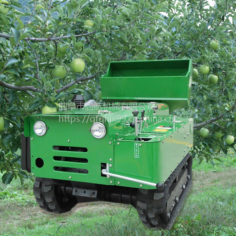 启航开沟下肥机 果园自走式挖沟机价格 履带式撒粪开沟回填机
