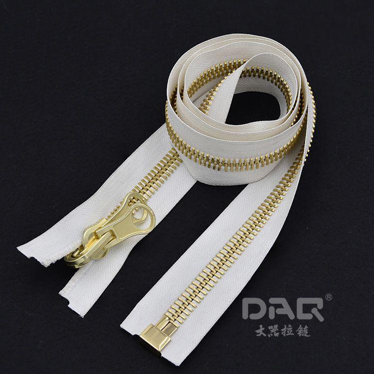 大器拉链DAQ品牌:高档优质服装拉链定制,上衣装饰拉链,金属拉链定做批发