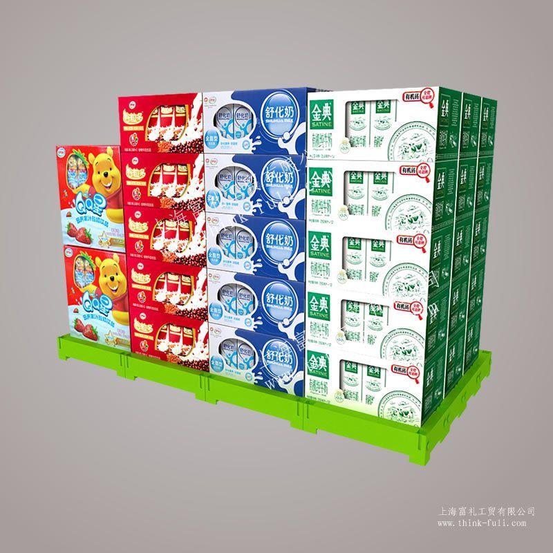 超市牛奶堆应怎么打堆好看图片