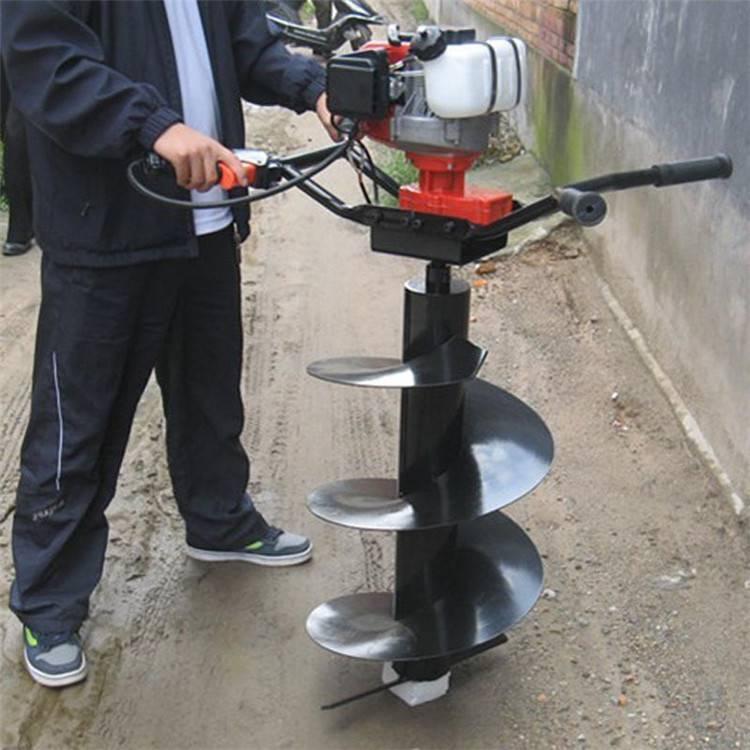 大马力汽油植树挖坑机 多功能果树打洞机 手推式种树挖坑机
