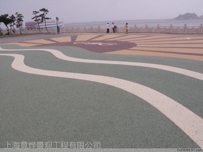 青岛竟烨压花地坪材料是海绵城市放心使用产品