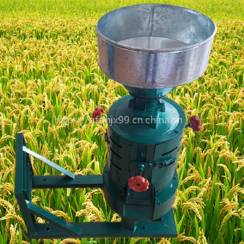 稻谷自动脱壳碾米机 高粱玉米脱皮机 谷子去皮碾米机视频