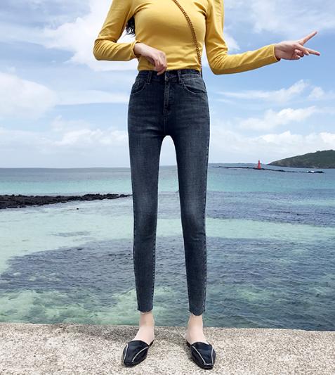 哪里批发小脚裤库存尾货杂款女装牛仔裤高腰弹力牛仔裤清货春夏热销