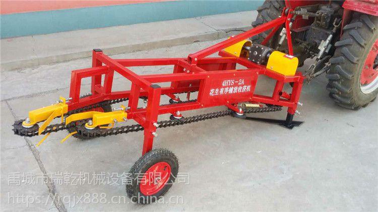 禹城市瑞乾机械设备有限公司现货供应四轮拖拉机带的条铺实花生收获机,收花生的机子。